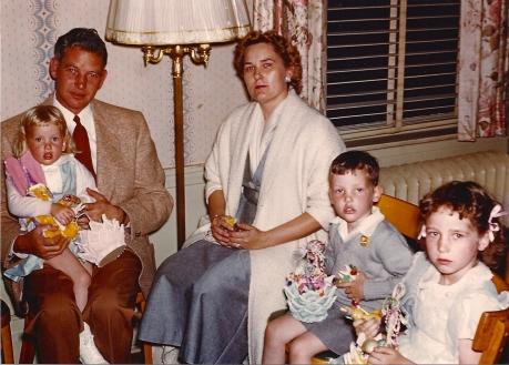 Hamilton Family   Easter 1953