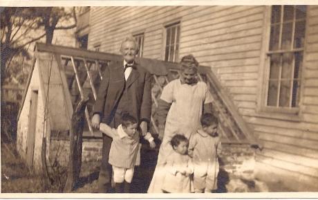 Mom & Dad Hamilton with J. C., Ed & Sara