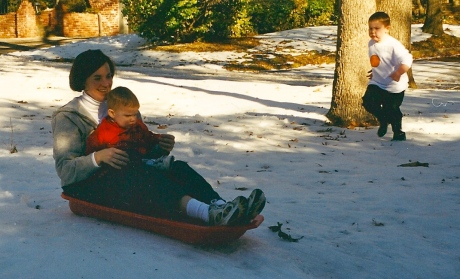 Sledding at Mimi's