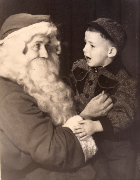 Alan with Santa - around 1950
