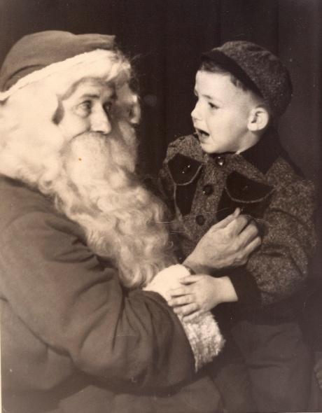 Alan with Santa - around 1950
