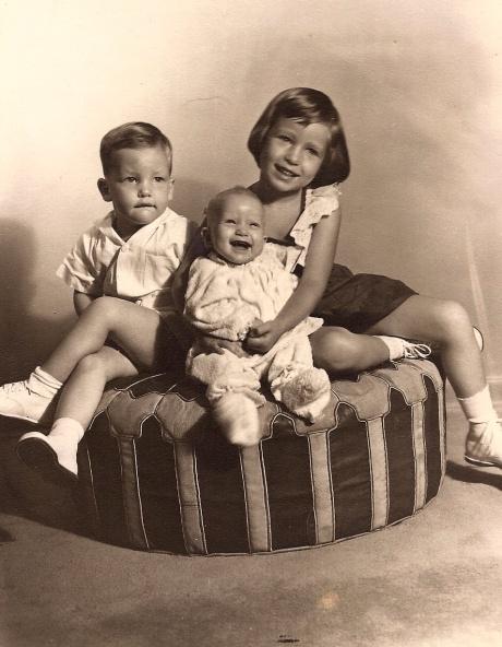 Karen, Jim & Linda Hamilton  1950